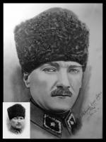 Atatürk Portresi karakalem